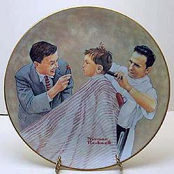 norman rockwell haircut haircut collector plate by norman rockwell 3783