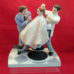 norman rockwell haircut haircut figurine by norman rockwell 3783