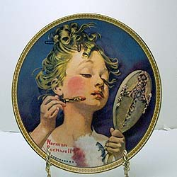 Making Believe In The Mirror Collector Plate By Norman