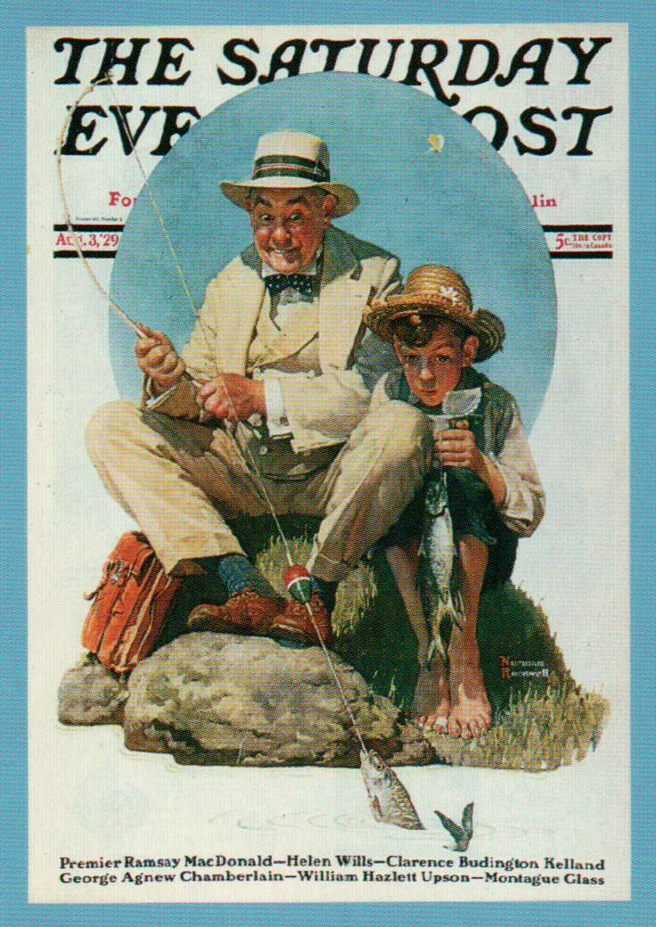 Catching The Big One Collector Plate By Norman Rockwell